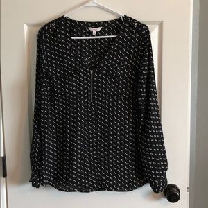 Candies black and white printed blouse
